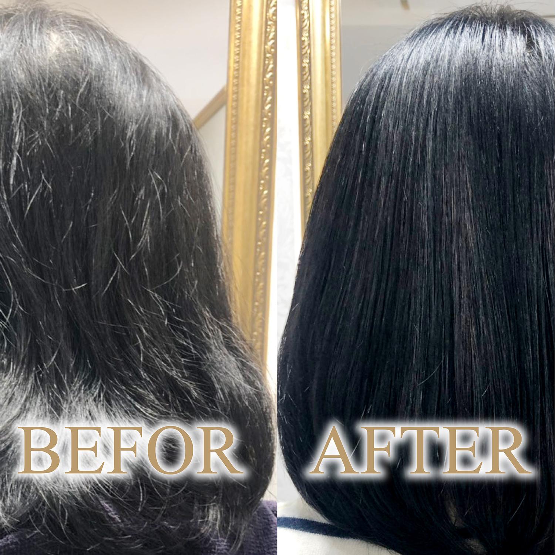 髪質改善 ビフォーアフター